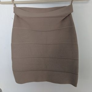 BCBGMaxAzria Simone Textured Power Skirt